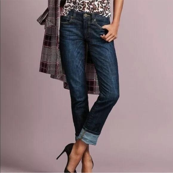 CAbi Denim - CAbi #3386 high straight dark wash jeans sz 6